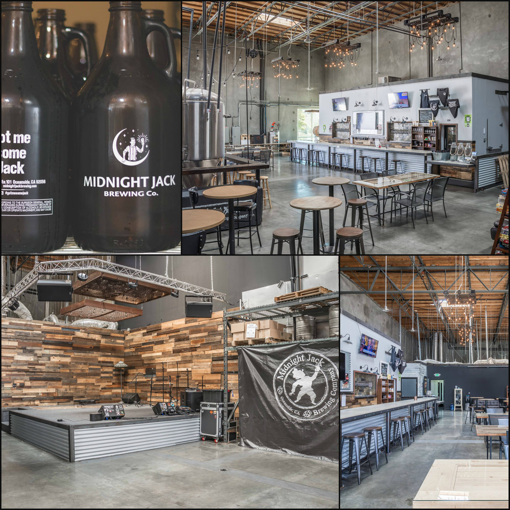 Commercial Real Estate Photography:  Midnight Jack Brewing  in Oceanside, California. Shot by Rob LeRoy