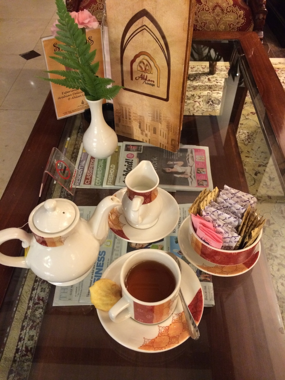 Hello Dubai - Welcome Tea Time at my Hotel.