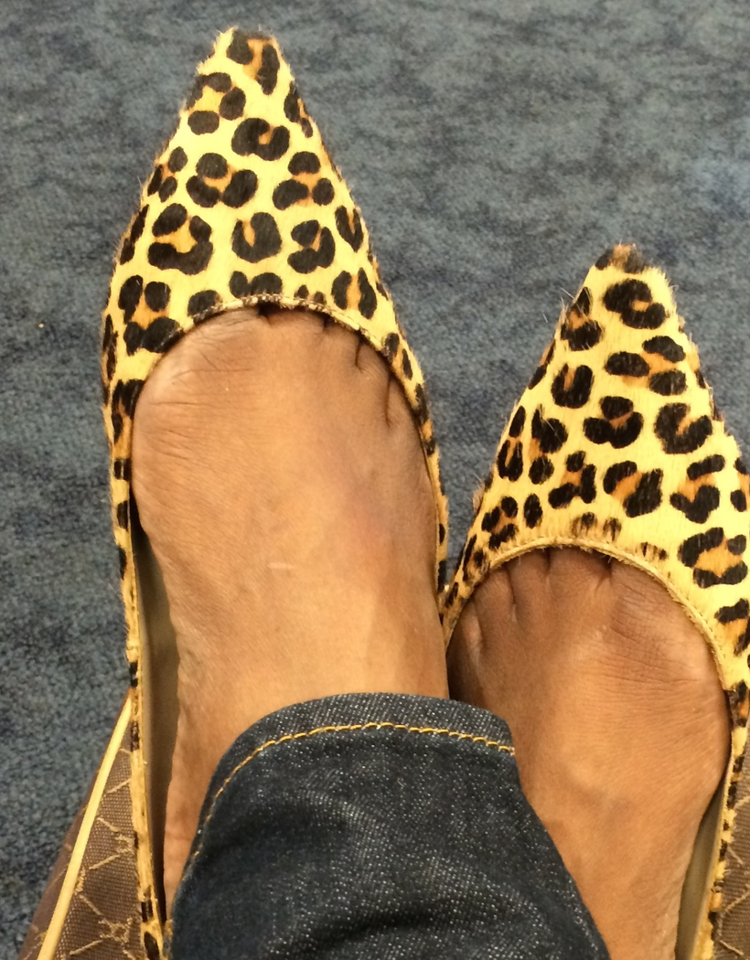 2. Walking on air in Steve Madden Leopard Print Flats