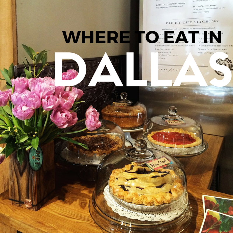 WHERE TO EAT IN DALLAS