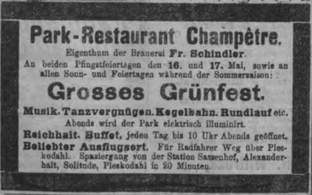 Zaļumballes reklāma avīzē