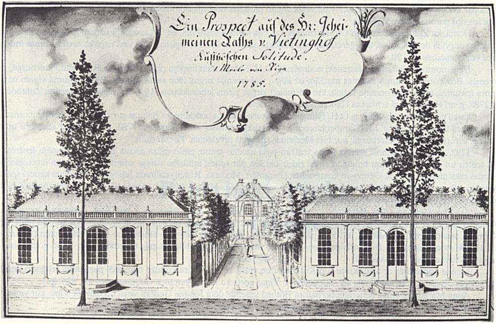 Johans Kristofs Broce Zolitūdes muižu zīmēja šādu