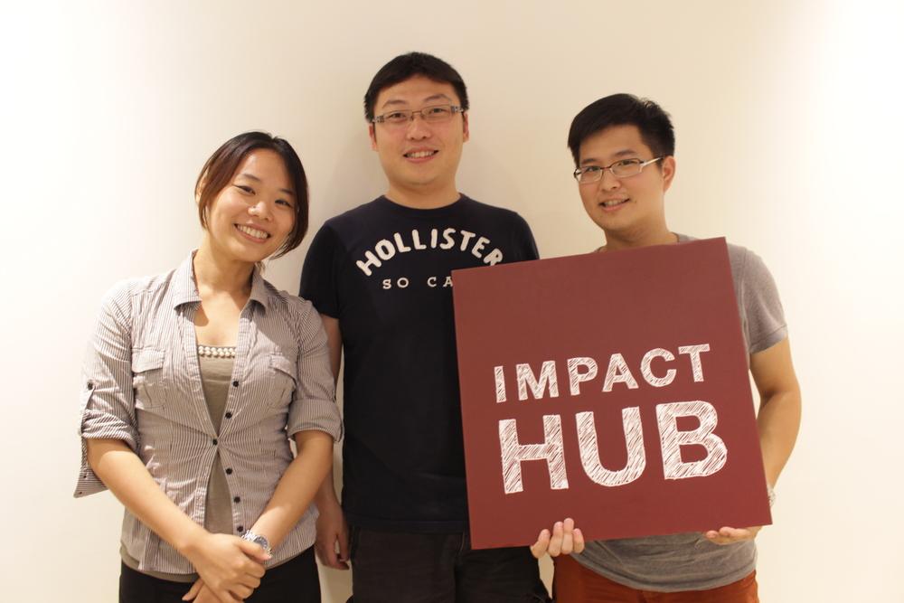 註Impact Hub夥伴們笑著敘述他們的理念.JPG