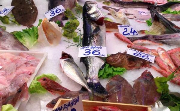 fabuolus fish market on the peta mathias culinary  tour of the Basque country.