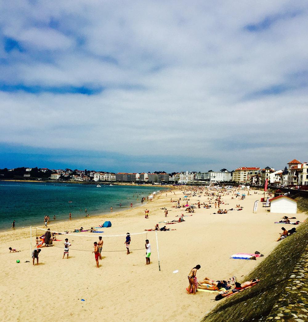 Beach at St Jean de Luz