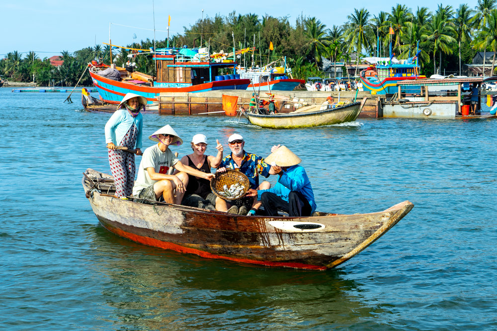 fishing trip on the river in hoi an