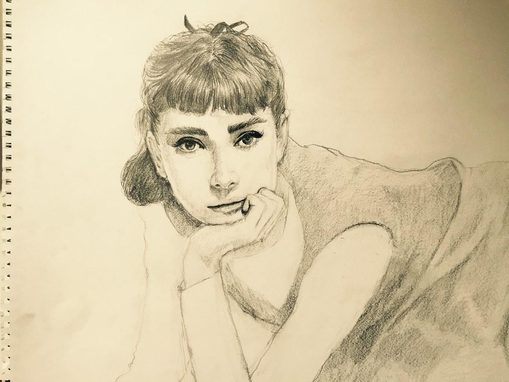 Skizze-Audrey-Hepburn