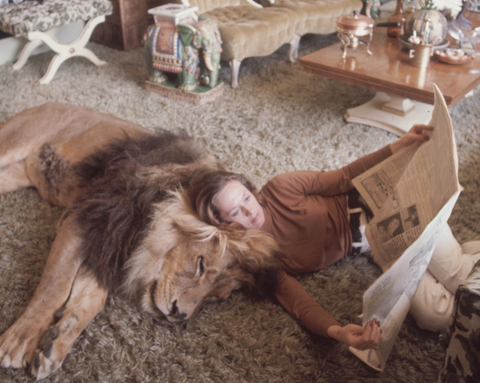 Living with lion. I think I will need to see this movie Roar.