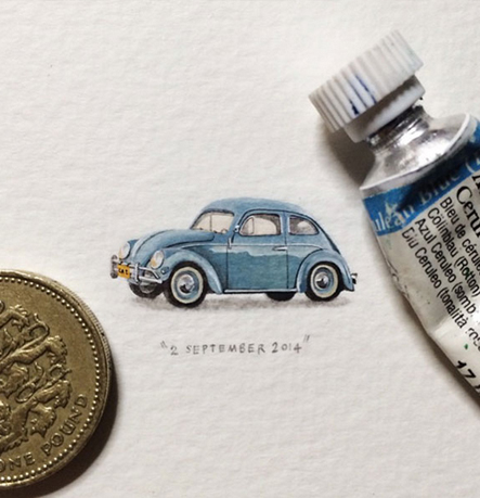 Amazing painter who draw 365 mini-paintings for ants.