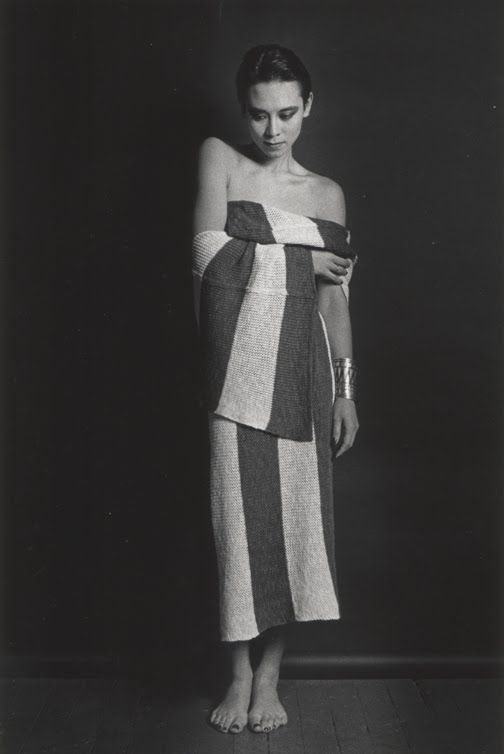 Tina Chow in Issey Miyake 1983 photo by Marcus Leatherdale