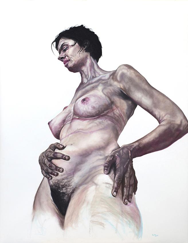 lucinda - 2013  195cm x 150cm  chalk pastel