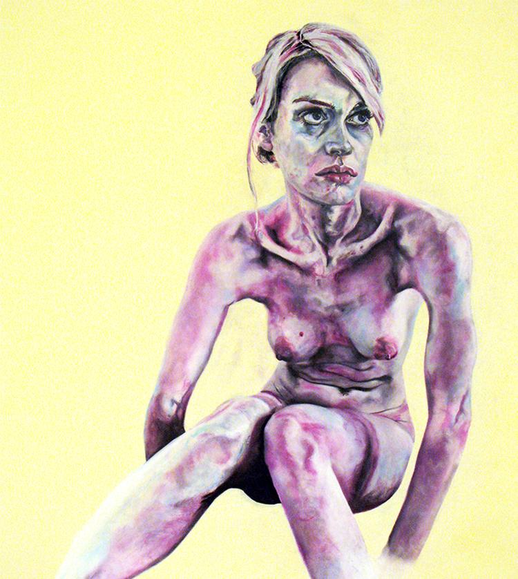 katie - 2008  140cm x 120cm  chalk pastel