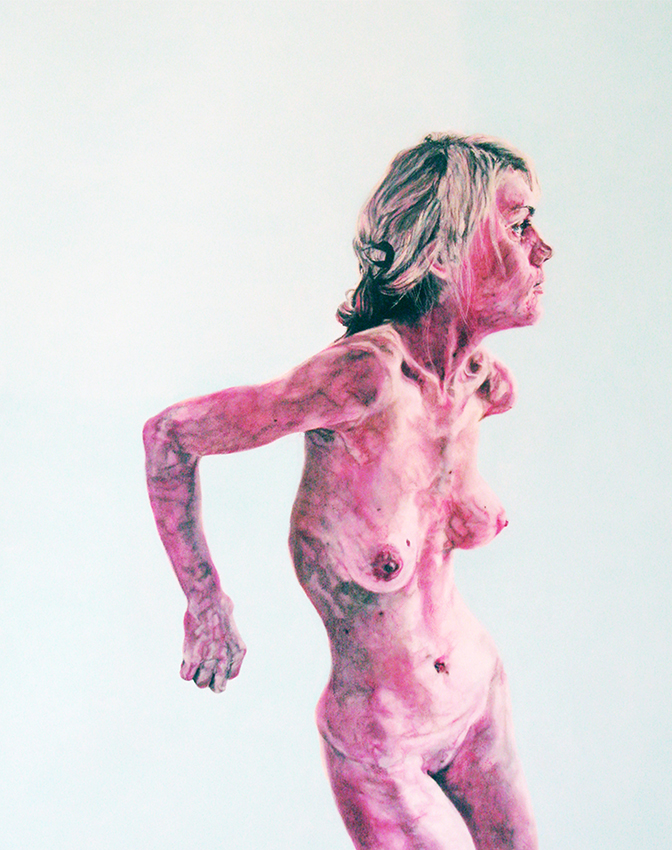 skinny - 2008  140cm x 120cm  chalk pastel