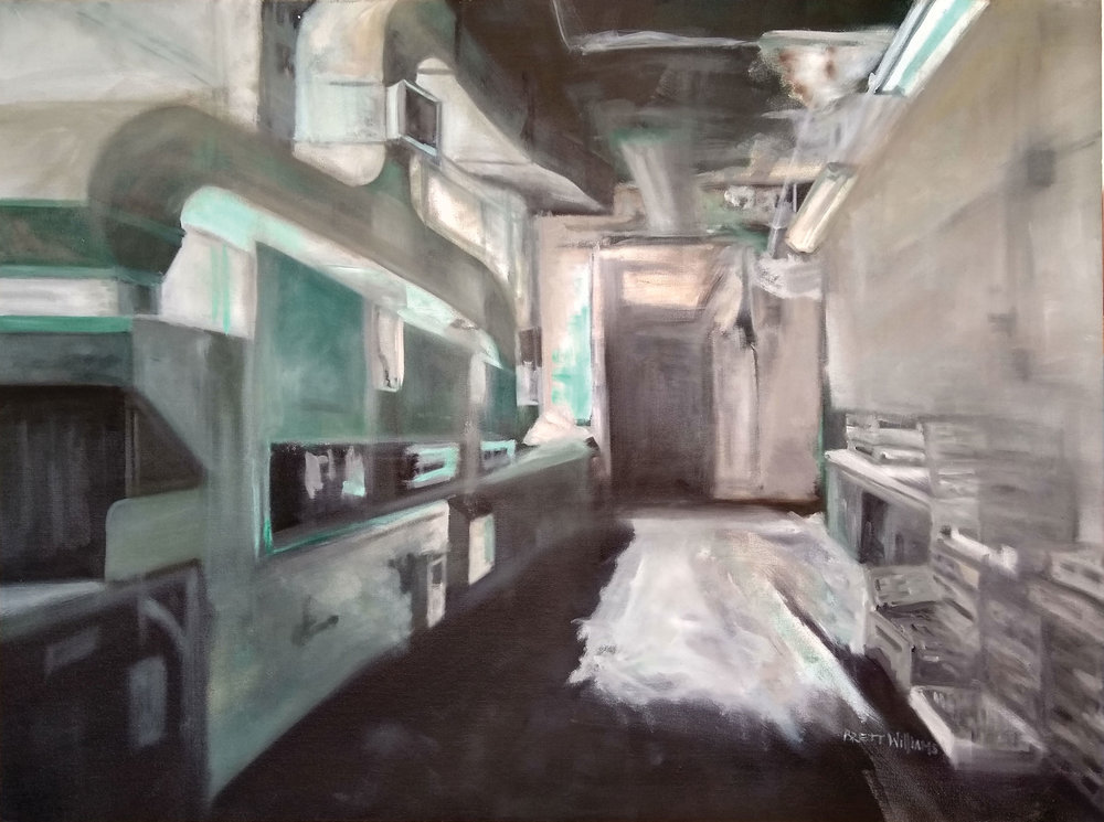 "State of Our House II  40"" x 30""  oil on canvas"