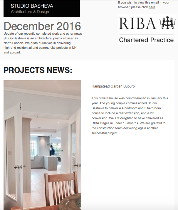 December News from Studio Basheva