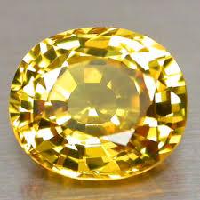 A beautiful yellow sapphire