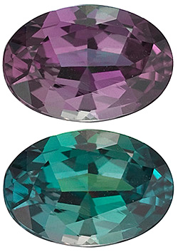 Alexandrite appears different colours in different types of light!