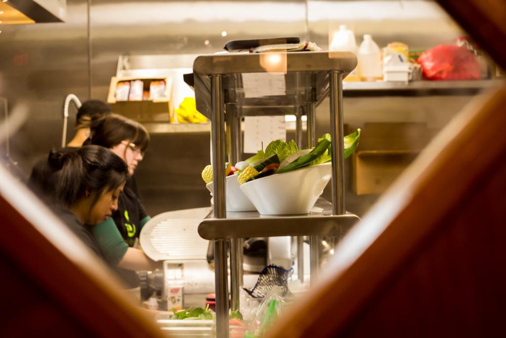 Kitchen staff at work