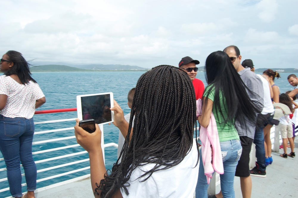 Capturing the view on Vieques boat.