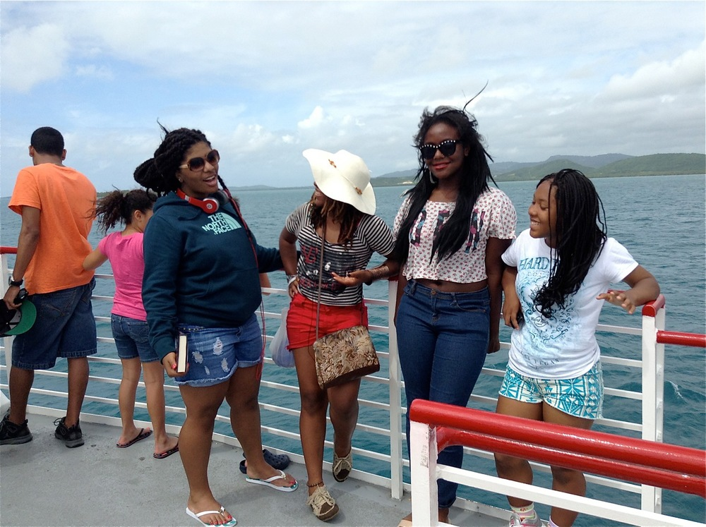 On the boat to Vieques