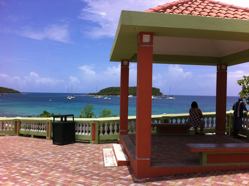 The boardwalk at Vieques