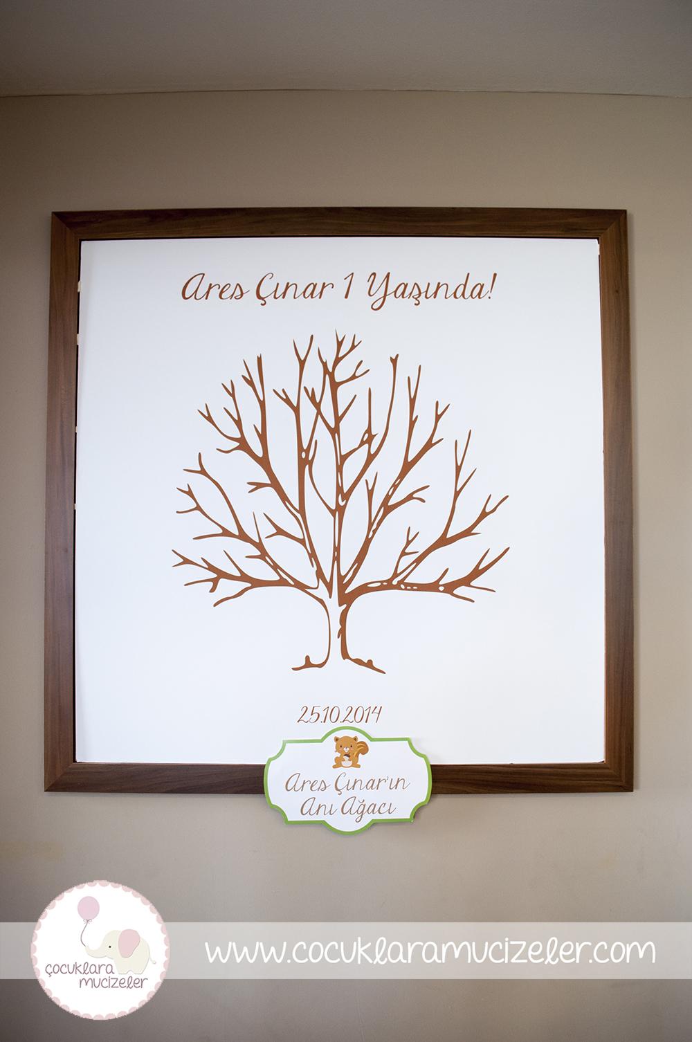 Parmak Baskı için Anı Ağacı