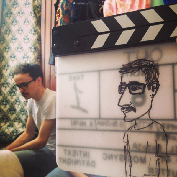 Rafael Bujosa, Director of Photography, drawn by Tiago Morelli, on sound