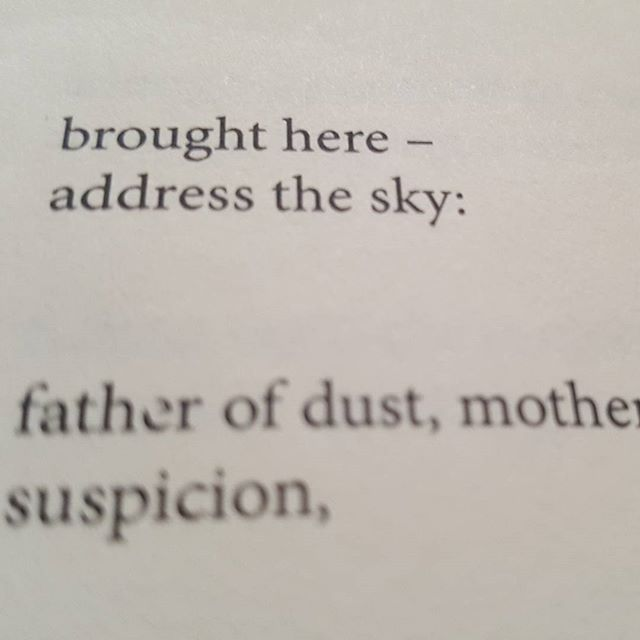 brought here - address the sky:  father of dust, mother of suspicion, (#blepharism) (#33) H_NGM_N Books