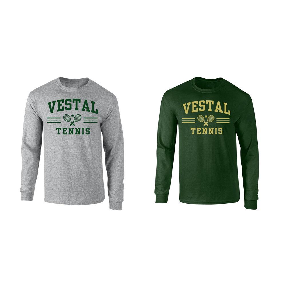 99cdf62c Vestal Tennis Long Sleeve T-Shirt — Embroidery & Screen Printing Network