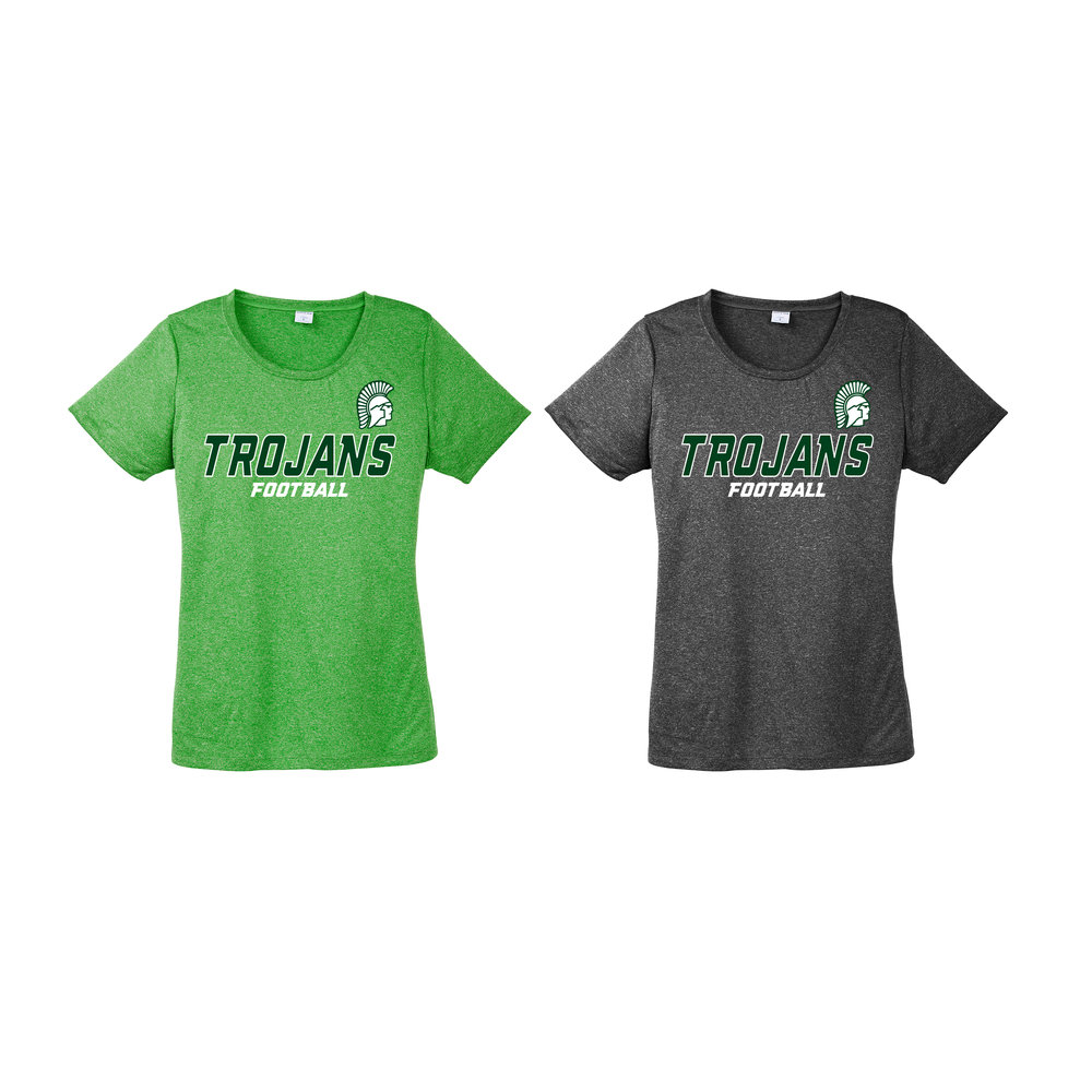 ba67fee8 Greene Touchdown Club Ladies Poly Performance T-shirt — Embroidery & Screen  Printing Network