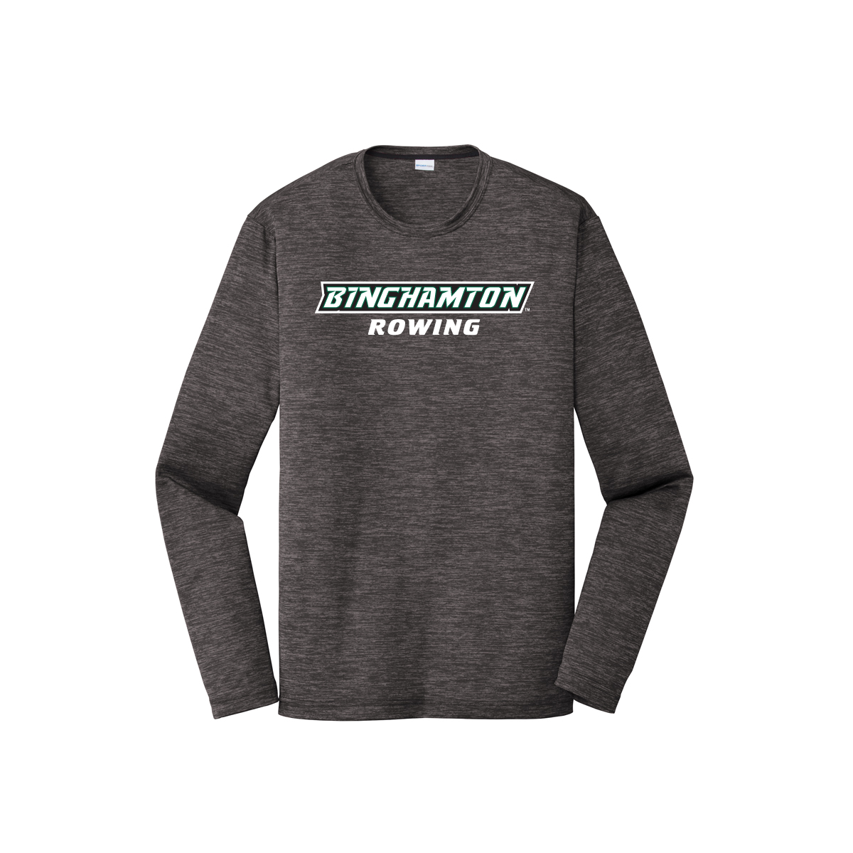 Binghamton Rowing Long Sleeve Performance T Shirt Embroidery