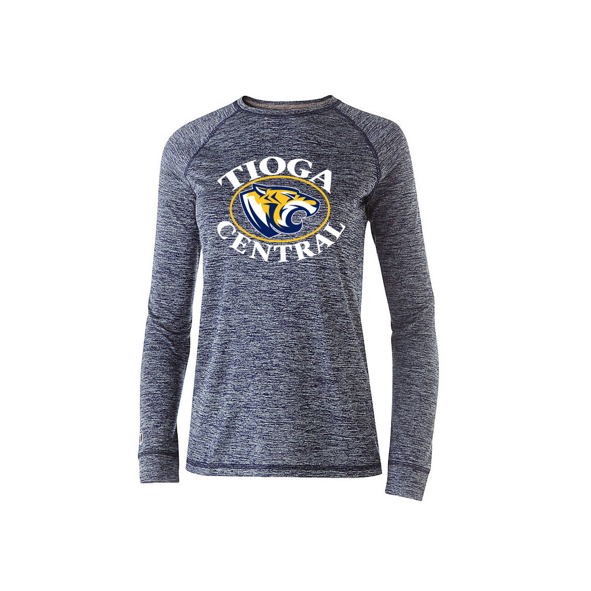 Tioga Central Ladies Electrify 20 Long Sleeve T Shirt Embroidery