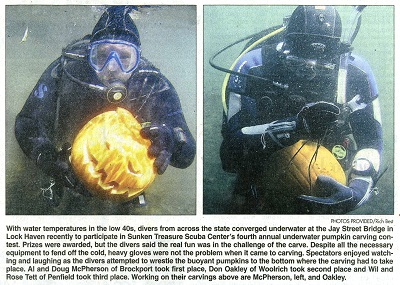 U/W Pumpkin Carving contest in 2008 at Jay Street  Click here for larger image