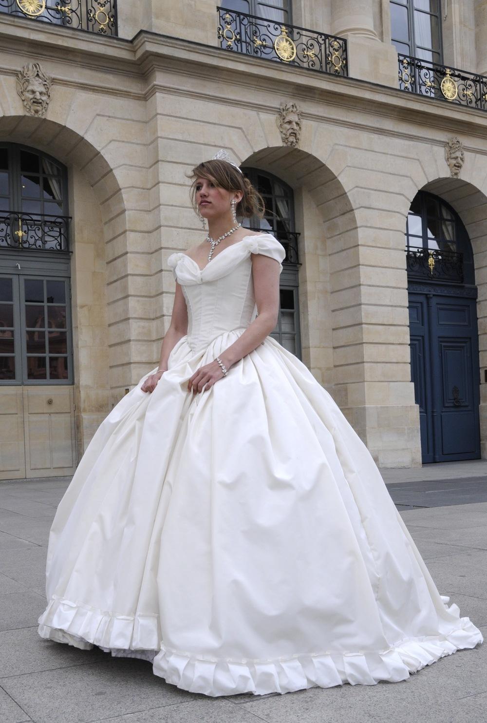 Robe de mariée Sissi sur mesure