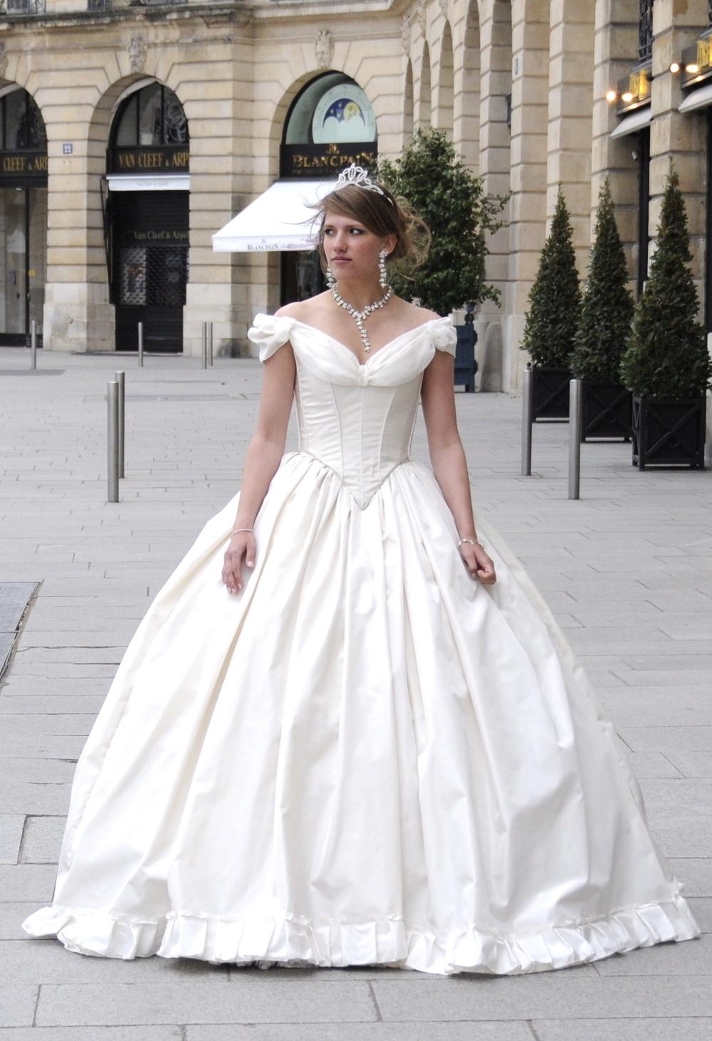 Robe de mariée Victorienne sur mesure