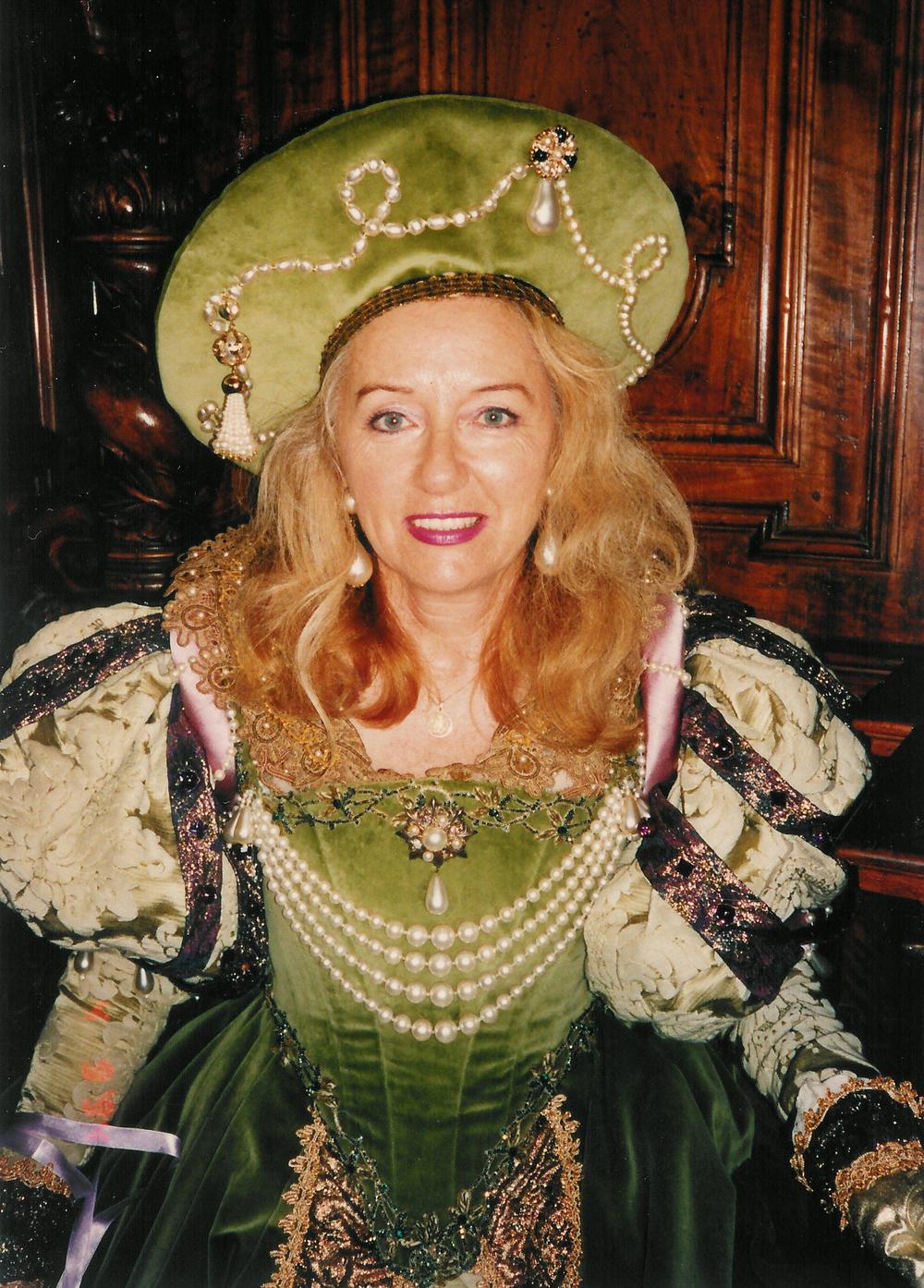 Robe Renaissance en velours vert