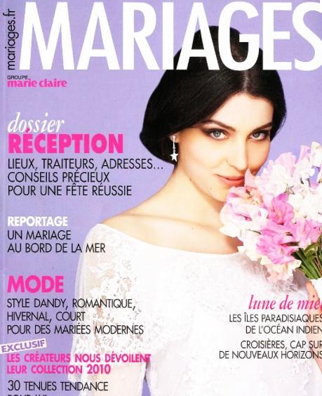 Dans Mariages magazine
