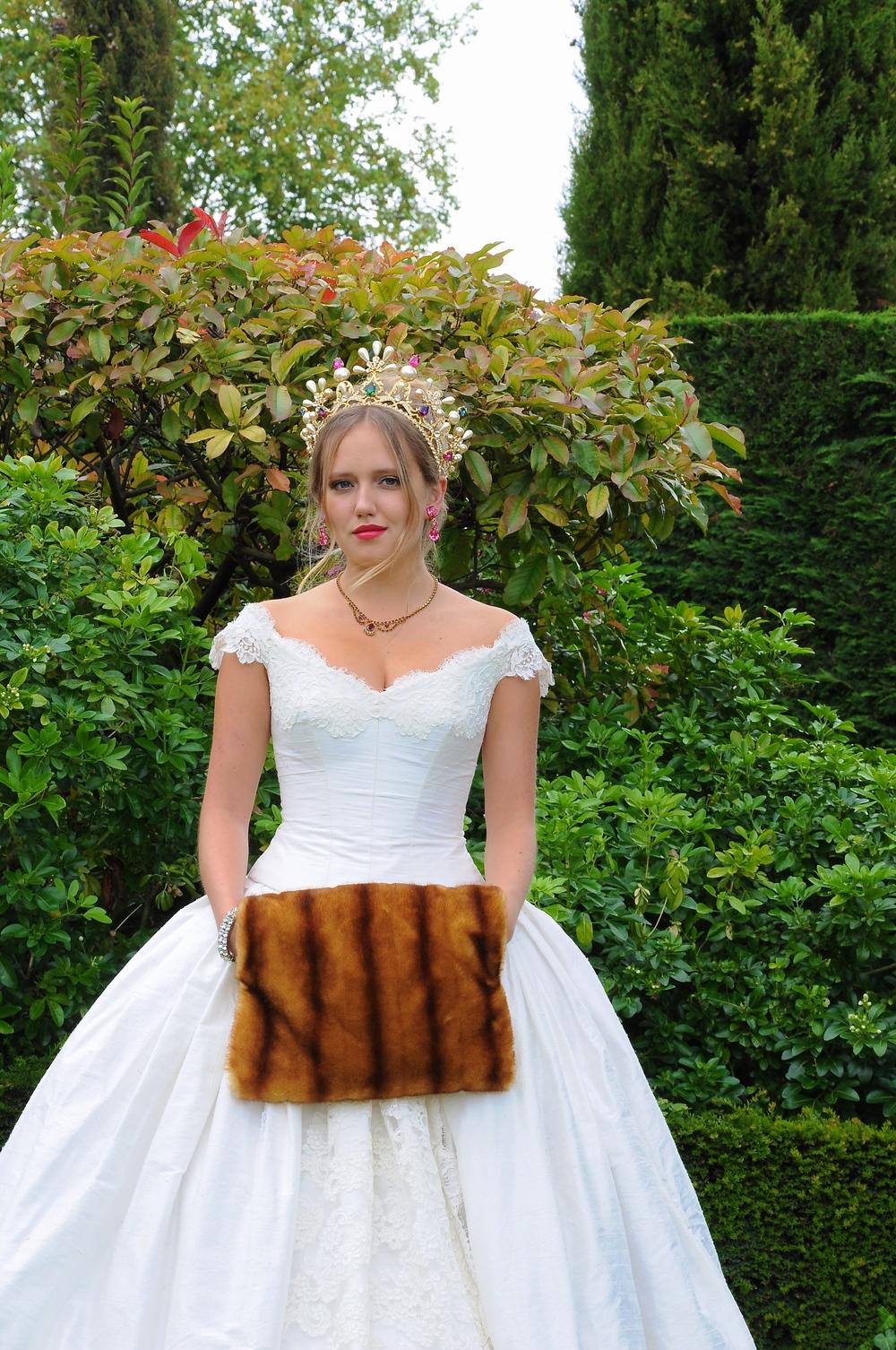 Robe de mariée créateur en soie