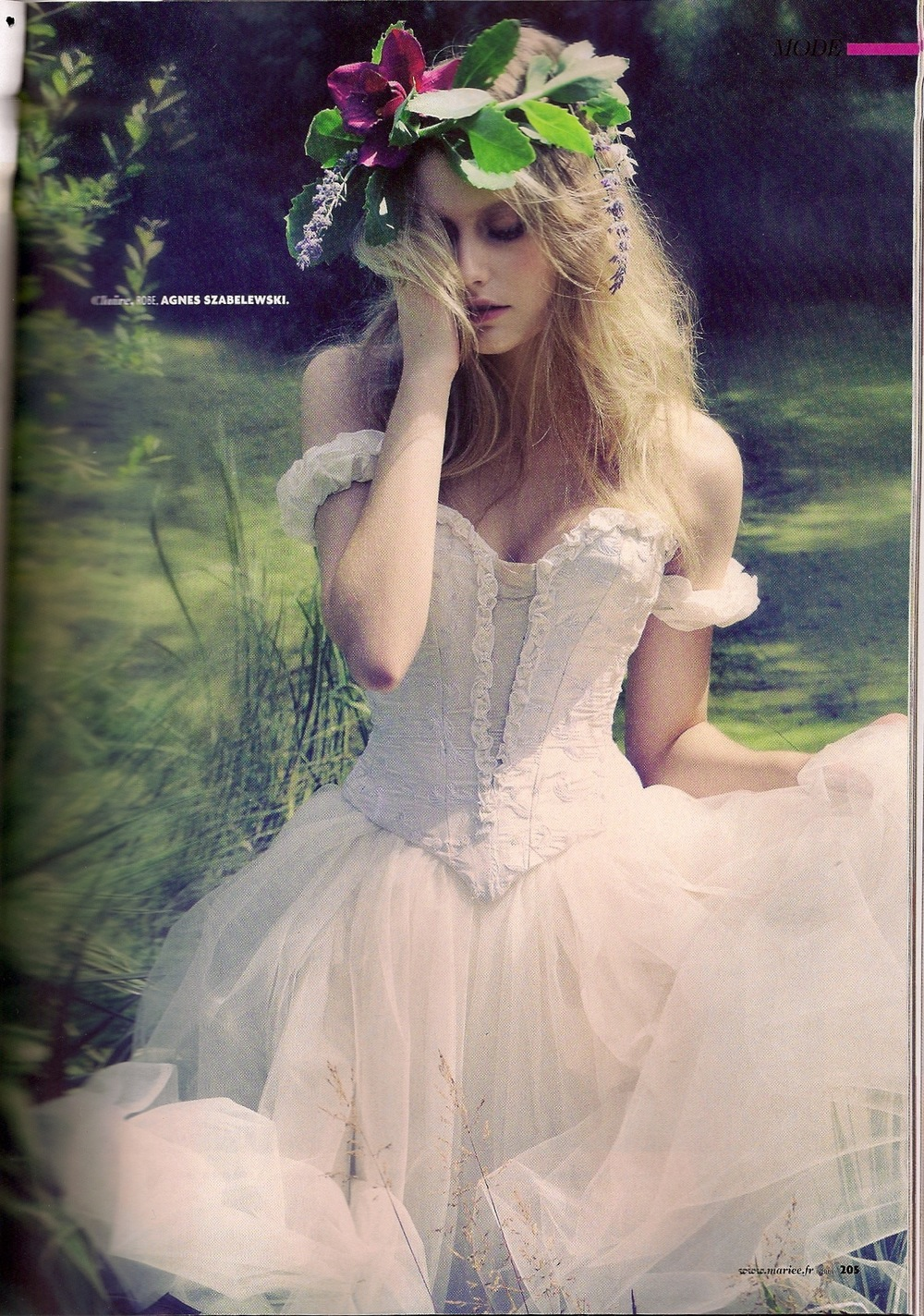 """Robe de mariée Danseuse étoile en soie. Parution Magazine """"Mariée"""""""