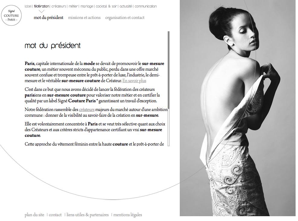 Cliquez sur la photo pour visiter le site Web de la fédération Signé Couture Paris