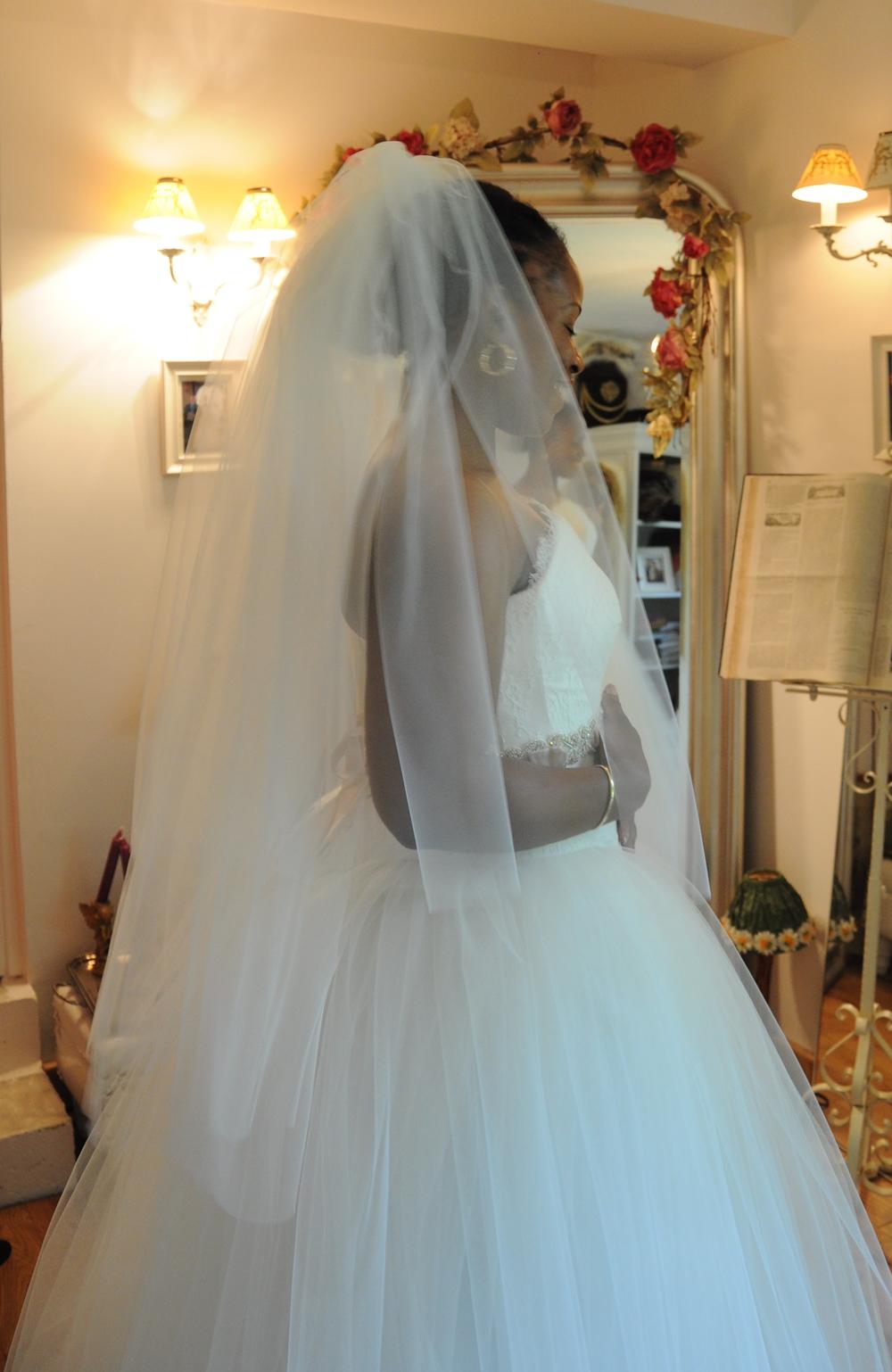 Voile de mariée en tulle