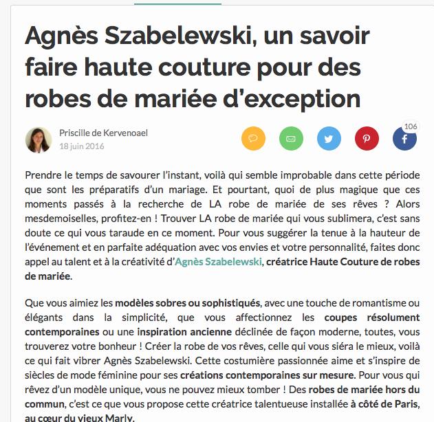 Cliquez sur l'image pour lire l'article sur Zankyou.fr !