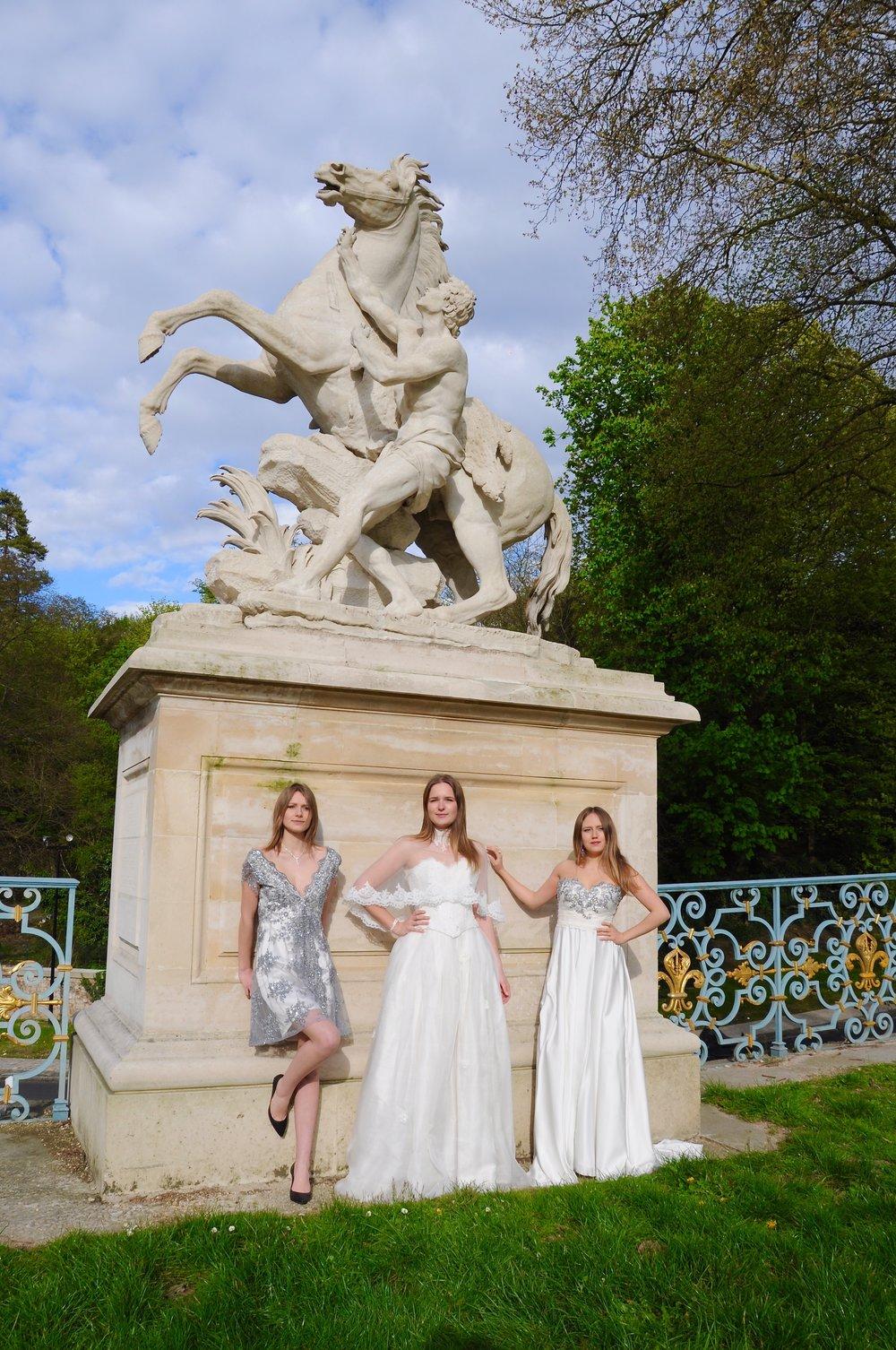 Trois robes de mariée sur mesure et cocktail Agnes Szabelewski.jpg