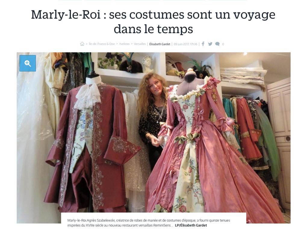 Cliquez sur la photo pour lire l'article dans Le Parisien sur Agnès Szabelewski