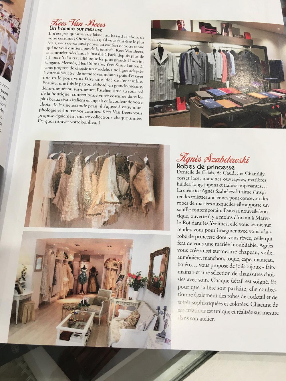Mariages magazine article sur Agnès Szabelewski.jpg
