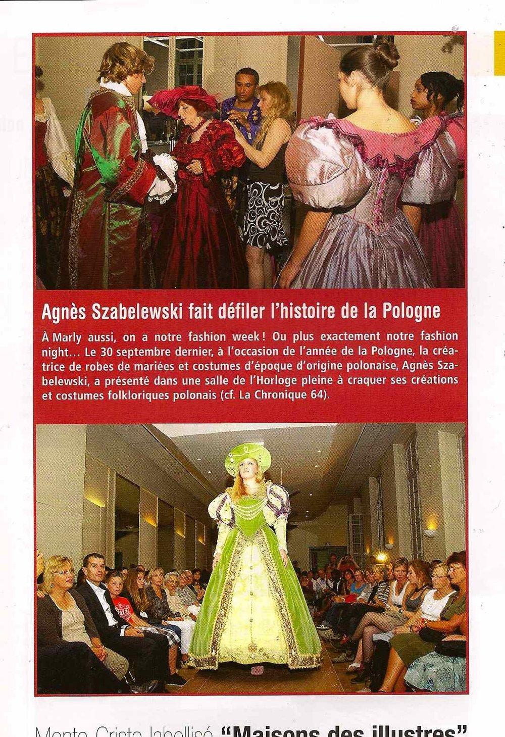 La Chronique de Marly article sur défilé Agès Szabelewski.jpg