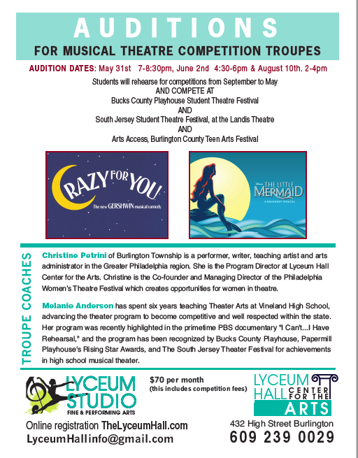 Auditions — The Herman T  Costello Lyceum Hall