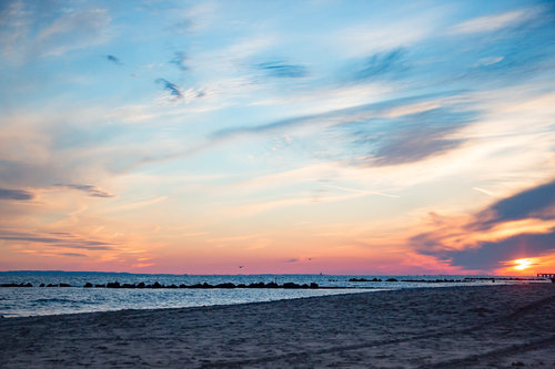 Coney Island Sunset -