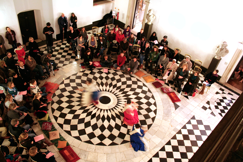 Dance performance in the Great Hall of the Queen's House, National Maritime Museum, Greenwich, London