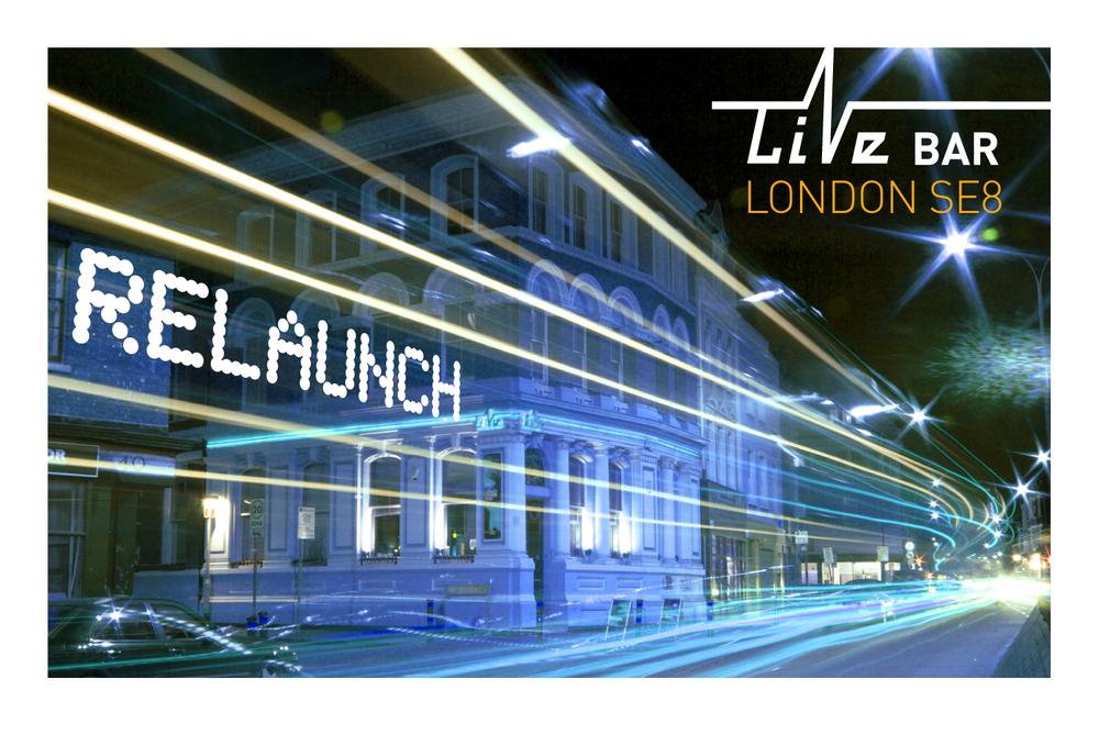 Live Bar flyer front